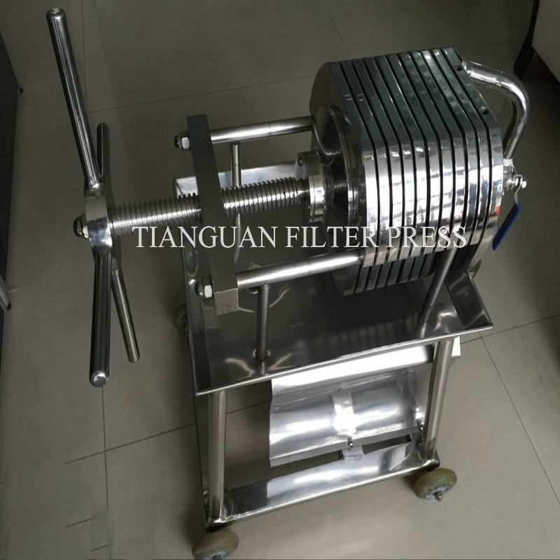 Small Manual Stainless Steel Plate Filter Press